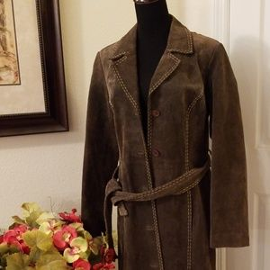 MOSSIMO Full Length Leather Trench Coat / Duster M